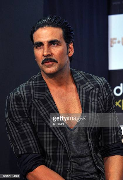 Indian Bollywood actor Akshay Kumar poses for a photograph during a promotional event for the forthcoming Hindi film F*UGLY directed by Kabir...