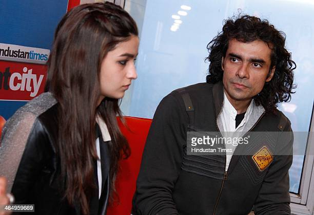 Indian Bollywood actor Alia Bhatt and film director and writer Imtiaz Ali during an exclusive interview with Hindustan Times for the promotion of...