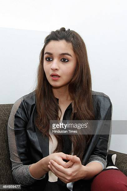Indian Bollywood actor Alia Bhatt during an exclusive interview with Hindustan Times for the promotion of upcoming movie Highway at HT Media office...
