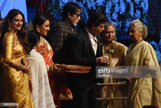 Indian Bollywood actor Amitabh Bachchan Shah Rukh KhanMamata Banerjee Chief Minister of West Bengal Actress Jaya Bachchan Actress Wheeda Rehman...