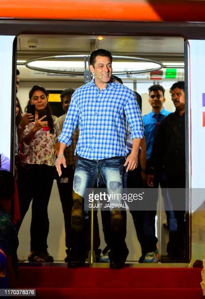Indian Bollywood actor and host of reality television program Bigg Boss season 13 Salman Khan arrives to attend a the show's press conference at...