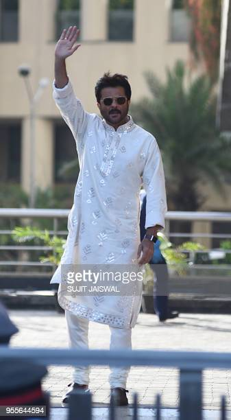 Indian Bollywood actor Anil Kapoor attends the actress Sonam Kapoor Sangeet ceremony in Mumbai on May 7 2018
