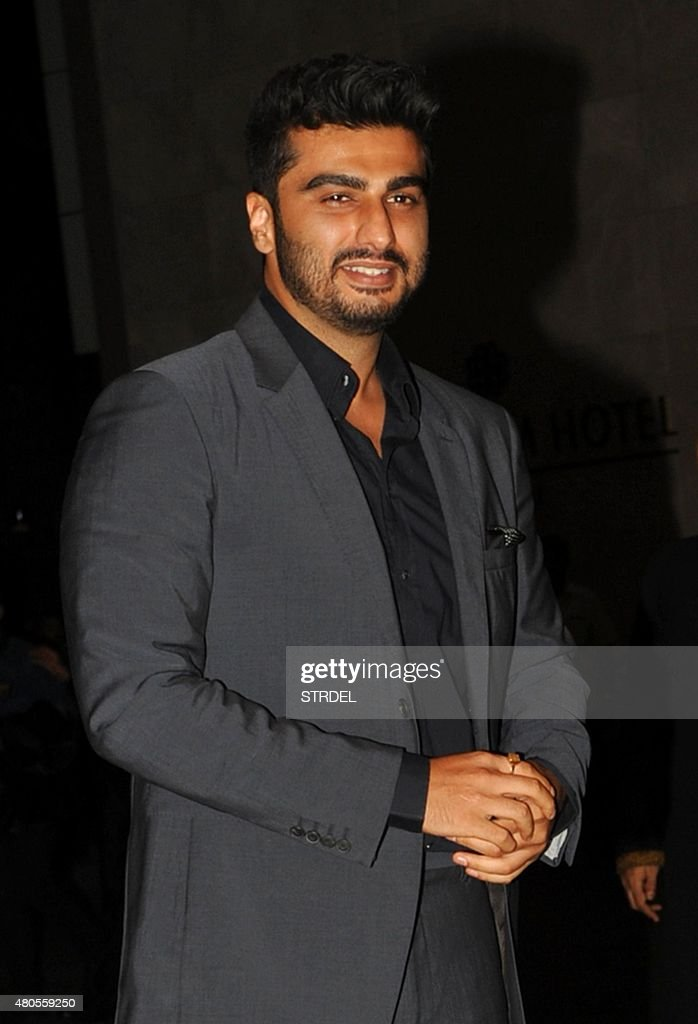 Indian Bollywood actor Arjun Kapoor arrives for the wedding reception of Bollywood actor Shahid Kapoor in Mumbai on July 12, 2015.