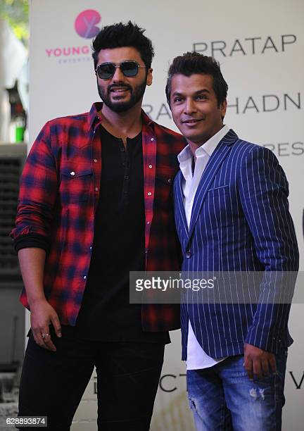 Indian Bollywood actor Arjun Kapoor attends the Muhurat of upcoming Marathi film Hrudayantar directed by Vikram Phadniss in Mumbai on December 10...
