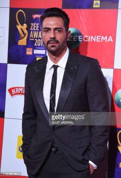 Indian Bollywood actor Arjun Rampal attends the 'Zee Cine Awards Ceremony' in Mumbai on March 19 2019