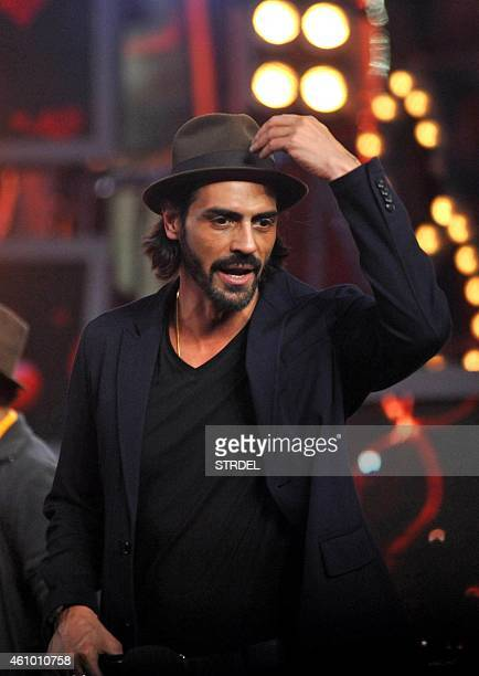 Indian Bollywood actor Arjun Rampal on the set of television show Bigg Boss 8 in Lonavala on January 3 2015 AFP PHOTO/STR