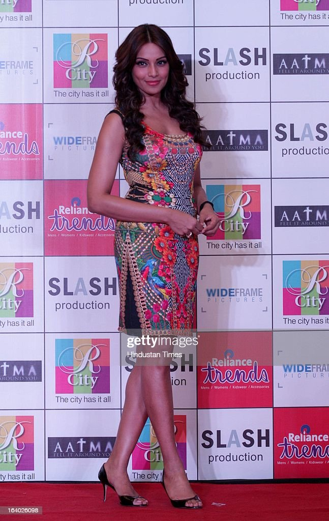 Indian Bollywood actor Bipasha Basu during the promotion of her upcoming film Aatma on March 17 2013 in Mumbai India The film directed by Suparn...
