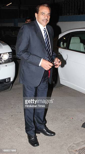 Indian bollywood actor Dharmendra at Baisakhi Celebration cohosted by G S Bawa and Punjab Association Of India on April 13 2013 in Mumbai India