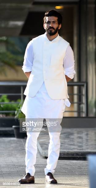 Indian Bollywood actor Harshvardhan Kapoor attends the actress Sonam Kapoor Sangeet ceremony in Mumbai on May 7 2018
