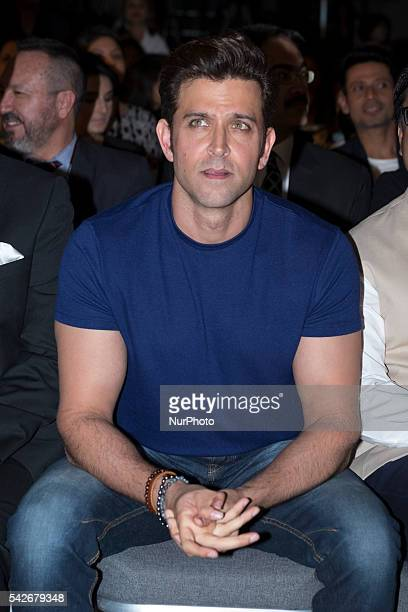 Indian Bollywood actor Hrithik Roshan attends the press conference for the 17th edition of IIFA Awards in Madrid on June 23 2016 Photo Oscar...