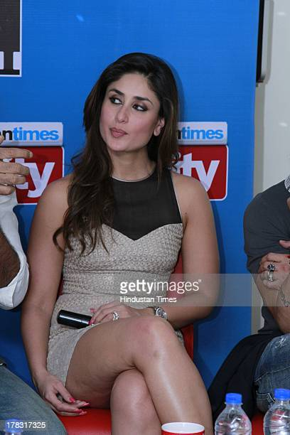 Indian bollywood actor Kareena Kapoor Khan during an exclusive interview for promotion of upcoming movie Satyagraha at HT Media Office on August 26...