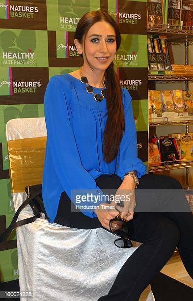 Indian bollywood actor Karisma Kapoor during unveiling of Health food section of Godrej Nature Basket store at Hill road, Bandra on January 22, 2013...