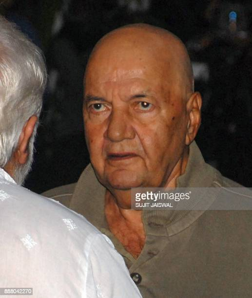 Indian Bollywood actor Prem Chopra attends a preyer meet for the late Bollywood actor Shashi Kapoor at Prithvi Theatre in Mumbai on December 7 2017 /...