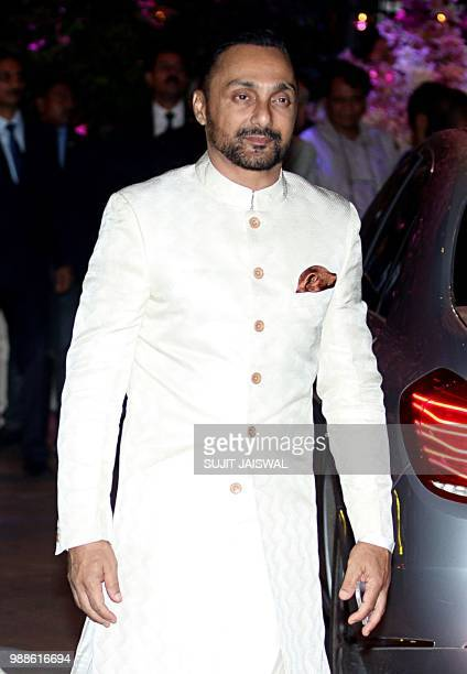 Indian Bollywood actor Rahul Bose arrive to the preengagement party of India's richest man and Reliance Industries Limited Chairman Mukesh Ambanis...