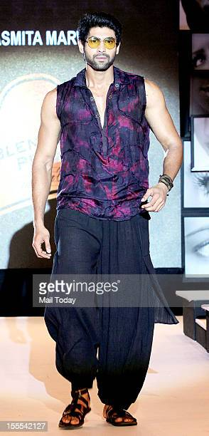 Indian Bollywood actor Rana Daggubati walks the ramp for Asmita Marwa at Blenders Pride Fashion Tour in Mumbai on Saturday evening