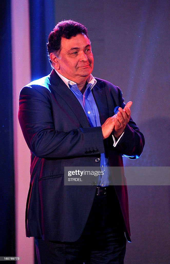 Indian Bollywood actor Rishi Kapoor attends the Prime Focus 16th anniversary and technology hub launch event in Mumbai on October 24, 2013.