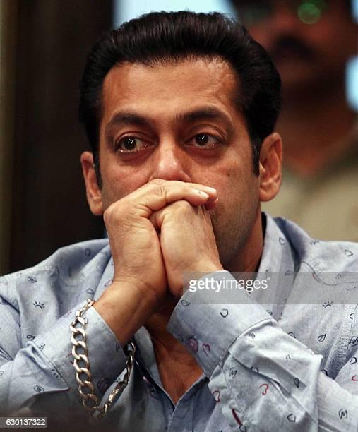 Indian Bollywood actor Salman Khan attends a press event as a brand ambassador of The Brihanmumbai Municipal Corporation as part of a campaign...