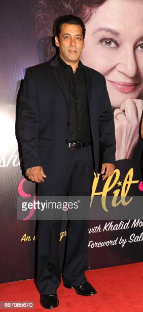 Indian Bollywood actor Salman Khan attends the launch of veteran actress director and producer Asha Parekhs autobiography 'The Hit Girl' in Mumbai on...