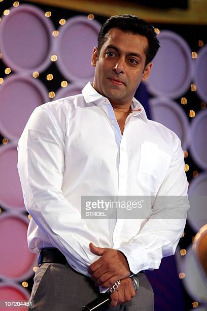 Indian Bollywood actor Salman Khan hosts the Indian Boradcast Network 7's �Super Idols� of the Nation Award ceremony in Mumbai on November 29 2010...
