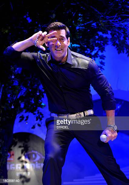 Indian Bollywood actor Salman Khan performs during a press conference for the reality game show BIGG BOSS Season 7 in Mumbai on September 11 2013 AFP...