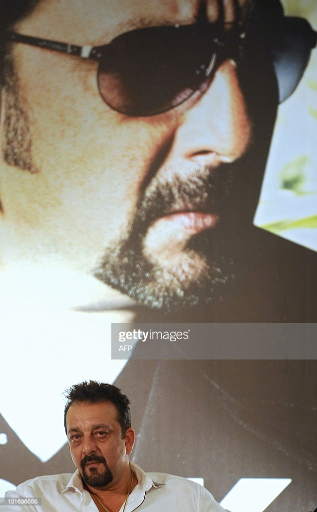 Indian bollywood actor Sanjay Dutt attends a press conference for the new film 'Knock Out', during the International Indian Film Academy (IIFA) awards event in Colombo on June 5, 2010. Megastar Aamir Khan's hit movie '3 Idiots' is set to sweep the board at the 'Bollywood Oscars' in Sri Lanka this weekend, after scooping a string of awards in the technical categories. AFP PHOTO/Punit PARANJPE
