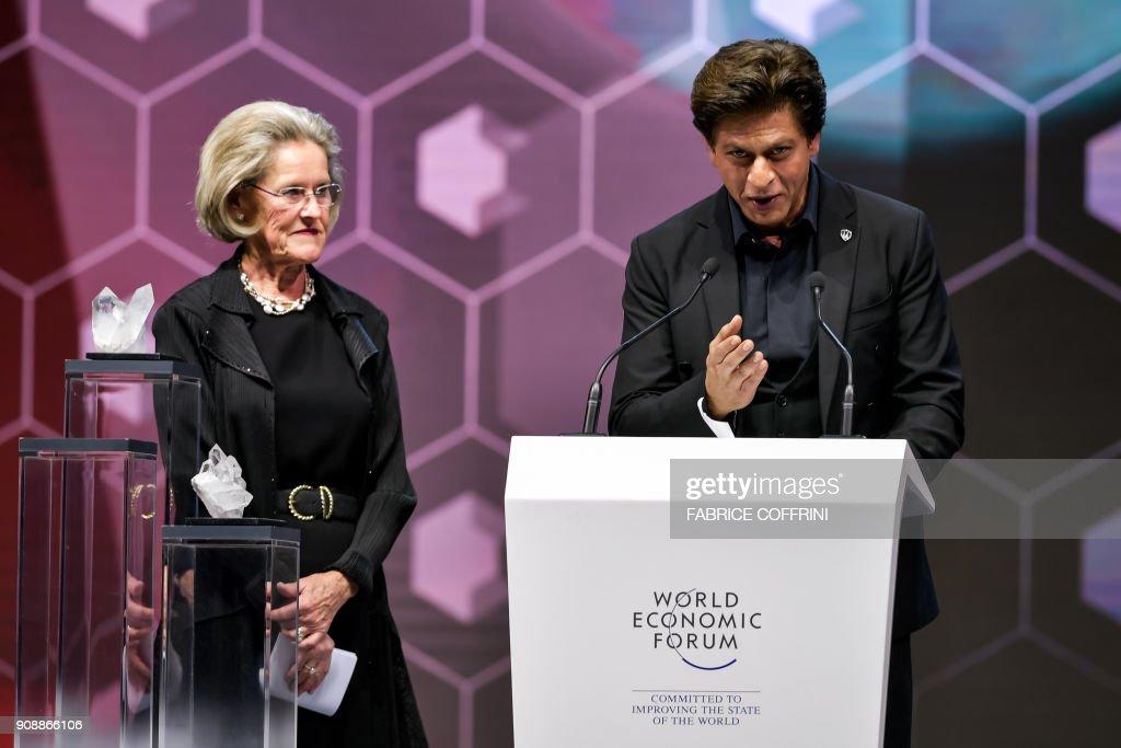 SWITZERLAND-DAVOS-POLITICS-ECONOMY-DIPLOMACY-SUMMIT : News Photo