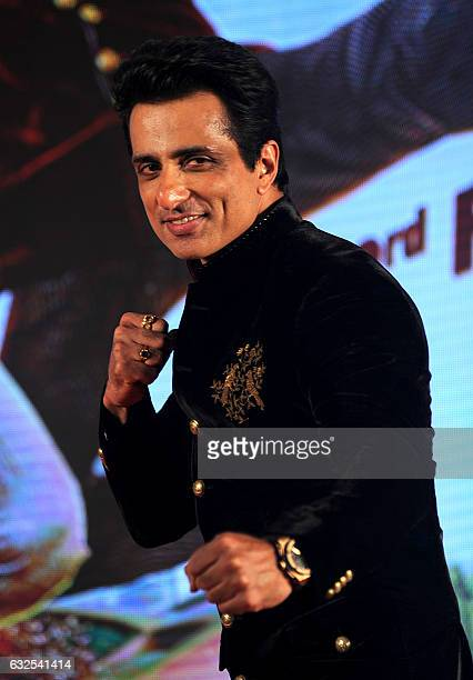 Indian Bollywood Actor Sonu Sood attend the promotion of press conference for upcoming Mandarin- Hindi- English Language Film Kung Fu Yoga directed...