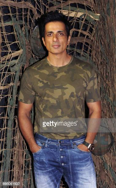Indian Bollywood actor Sonu Sood poses for a photograph at the 20th anniversary celebration of Hindi film Border produced and directed by J P Dutta...