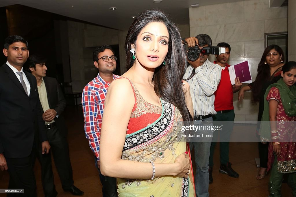 Indian Bollywood Actor Sridevi Kapoor Poses For Picture At Grand Hyatt Regency On March