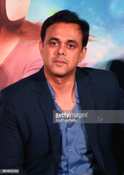 Indian Bollywood actor Sumeet Raghavan looks on during a promotional event for the forthcoming Marathi movie 'Bucket List' directed by Tejas Prabha...