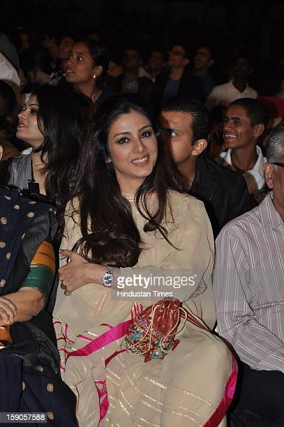 Indian bollywood actor Tabu during the Umang Mumbai Police Annual Show 2013 at Andheri Sports Complex on January 5 2013 in Mumbai India