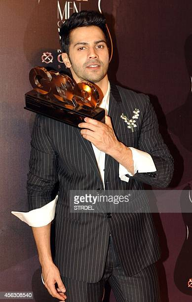 Indian Bollywood actor Varun Dhawan attends the GQ India Men of the Year Awards 2014 ceremony in Mumbai on September 28 2014 AFP PHOTO/STR