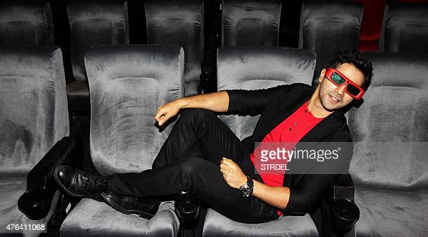 Indian Bollywood actor Varun Dhawan poses during the launch of a song for the forthcoming Hindi film ABCD 2 in Mumbai late June 8 2015 AFP PHOTO/STR