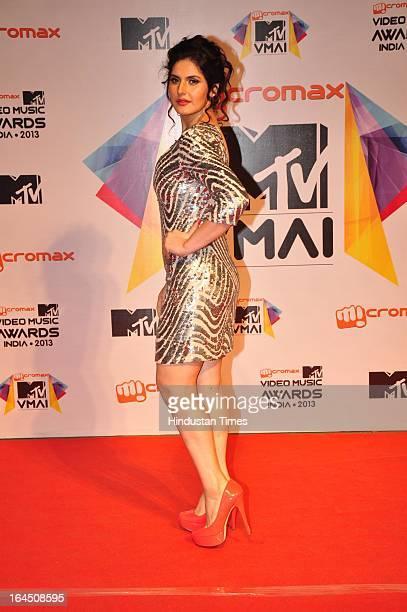 Indian Bollywood actor Zarine Khan during the MTV Video Music Awards 2013 at Tulip Star Hotel Juhu Tara Road on March 21 2013 in Mumbai India