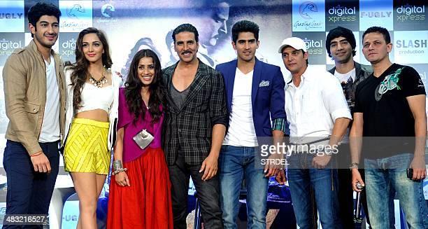 Indian Bollywood actors Mohit Marwah Kiara Advani Ashvini Yardi and Akshay Kumar boxer Vijender Singh and Bollywood actors Jimmy Sheirgill and Arfi...