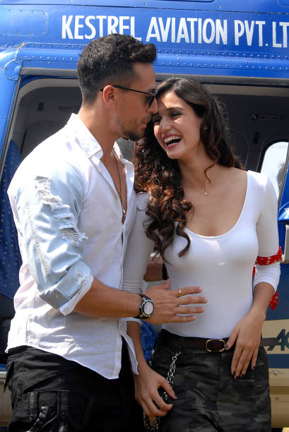 indian-bollywood-actors-tiger-shroff-and-disha-patani-take-part-in-a-picture-id921920064
