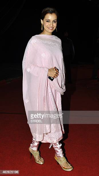 Indian Bollywood actres Dia Mirza attend an event organised by the Rotary Club of Bombay in Mumbai on February 1 2015 AFP PHOTO/STR