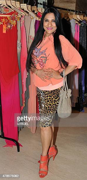 Indian Bollywood actress Aarti Surendranath poses for a photograph during a event held by the MADDAD The Helping Hand NGO and Bollywood actress...