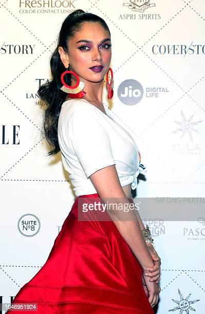 Indian Bollywood actress Aditi Rao Hydari attends 'Elle Beauty Awards 2018' in Mumbai on October 06 2018