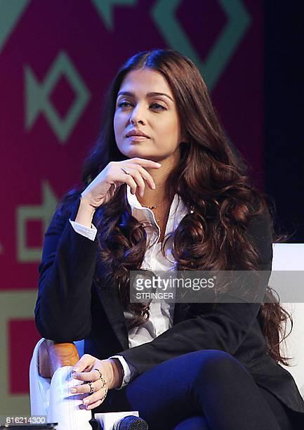 Indian Bollywood actress Aishwarya Rai Bachchan attends the Jio MAMI 18th Mumbai Film Festival Movie Mela for the upcoming Hindi film Ae Dil Hai...