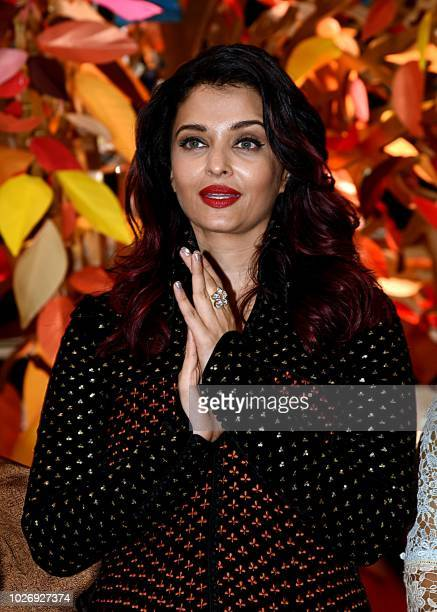 Indian Bollywood actress Aishwarya Rai Bachchan attends the opening ceremony of the 31st edition of the Women Entrepreneurs Exhibition in Mumbai on...