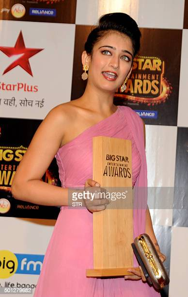 Indian Bollywood actress Akshara Haasan attends the BIG Star Entertainment Awards 2015 ceremony in Mumbai on December 13 2015 AFP PHOTO / AFP / STR