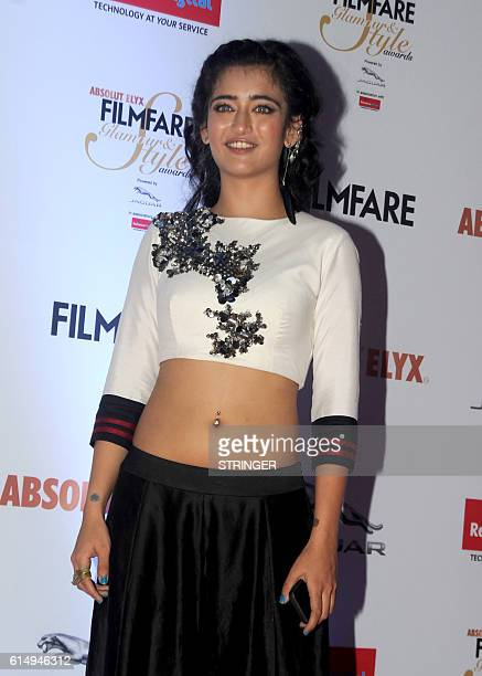 Indian Bollywood actress Akshara Haasan attends the 'Filmfare Glamour and Style Awards 2016' in Mumbai on October 15 2016 / AFP / STRINGER