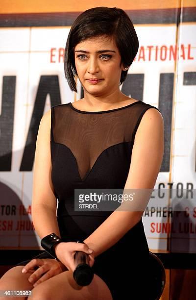 Indian Bollywood actress Akshara Haasan during the trailer launch for the upcoming Hindi film 'Shamitabh' in Mumbai on January 6 2015 AFP PHOTO/STR