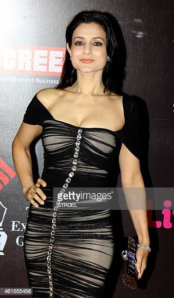 Indian Bollywood actress Ameesha Patel attends the 'Life OK Screen Awards 2015' in Mumbai on January 14 2015 AFP PHOTO/STR