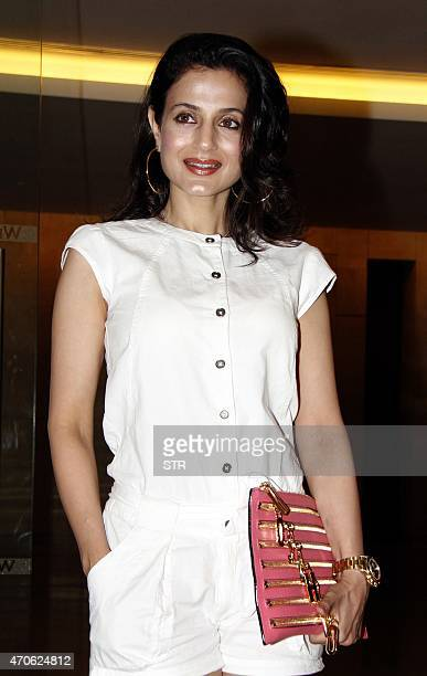 Indian Bollywood actress Ameesha Patel poses during a promotional event in Mumbai on April 21 2015 AFP PHOTO