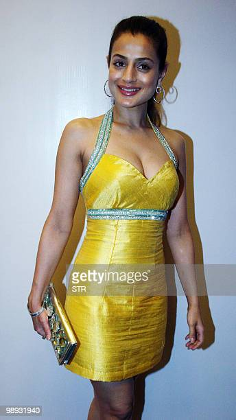 Indian Bollywood actress Amisha Patel attends a fashion show to launch European brand Vero Moda in Mumbai on May 8 2010 AFP PHOTO/STR