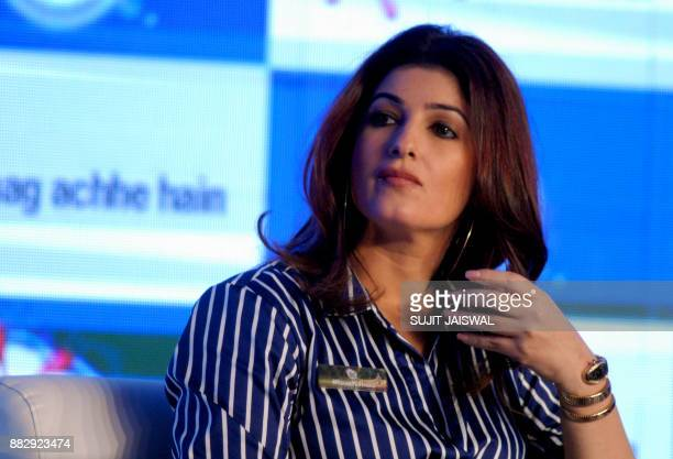 Indian Bollywood actress and author Twinkle Khanna looks on during a panel discussion for the Surf Excel campaign launch in Mumbai on November 30...