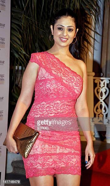 Indian Bollywood actress Anjana Sukhani attends the L'Oreal Paris Femina Women Awards 2012 in Mumbai on March 22 2012 AFP PHOTO/STR