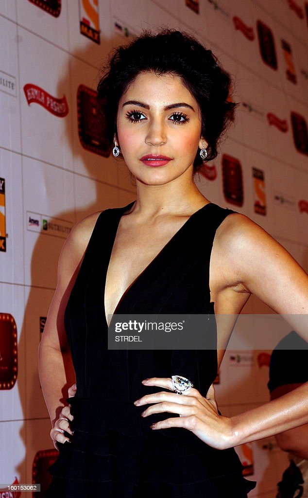 Indian Bollywood actress Anushka Sharma attends this year's Stardust Awards ceremony in Mumbai on January 26, 2013.